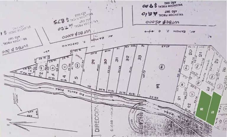 mapa Centro lotes